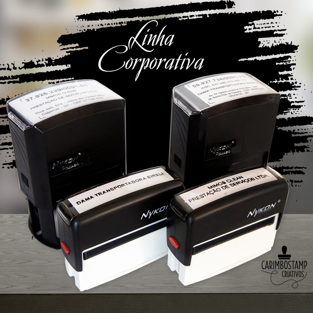 foto de carimbos automáticos de CNPJ e razão social